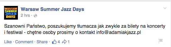 Warsaw Summer Jazz Days_za bilety_16.2.15